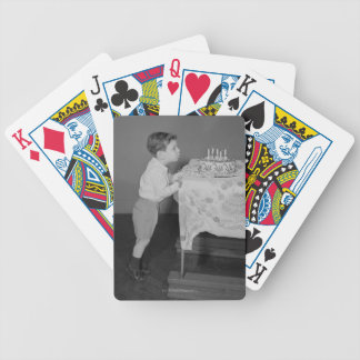 Boy Blowing Out Candles Bicycle Playing Cards