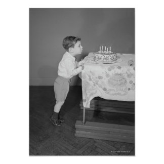 Boy Blowing Out Candles Card