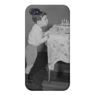 Boy Blowing Out Candles Cases For iPhone 4