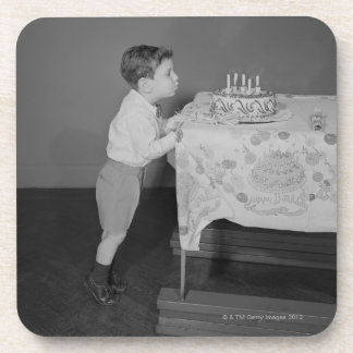 Boy Blowing Out Candles Coaster