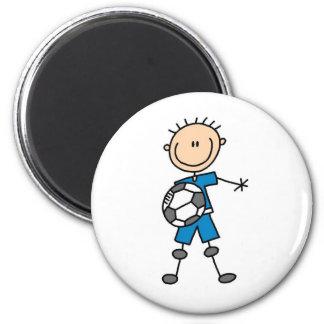 Boy Blue Uniform Soccer 6 Cm Round Magnet