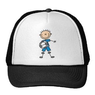 Boy Blue Uniform Soccer Mesh Hat