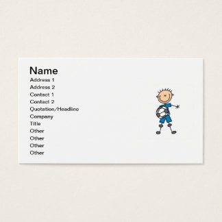 Boy Blue Uniform Stick Figure Soccer Player Gifts