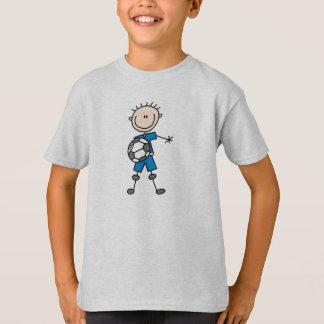 Boy Blue Uniform Stick Figure Soccer Player Gifts T-Shirt