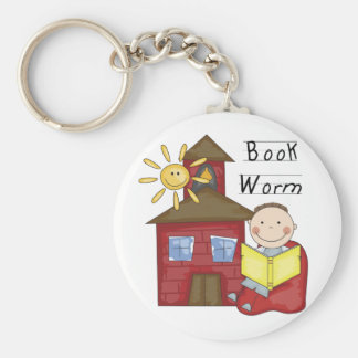 Boy Book Worm Tshirts and Gifts Keychain