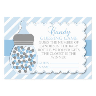 Boy Bottle Baby Shower Guessing Game Business Card Template