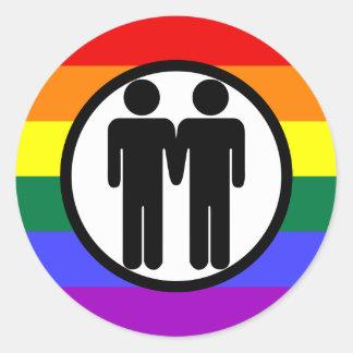 Boy + Boy Rainbow Sticker