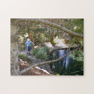 Boy by Green Pool Puzzle