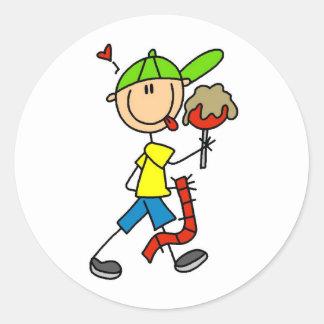 Boy Carnival Goer Classic Round Sticker