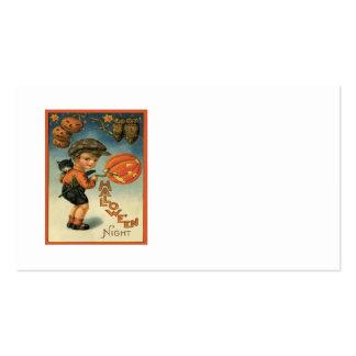 Boy Cat Jack O' Lantern Owl Stars Pack Of Standard Business Cards