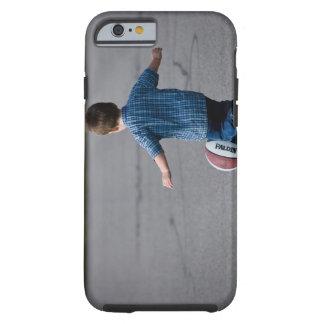 Boy chasing basketball outdoors tough iPhone 6 case