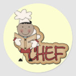 Boy Chef - African American Tshirts and Gifts Round Stickers