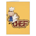 Boy Chef - White T-shirts and Gifts Greeting Cards