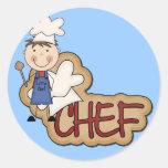 Boy Chef - White T-shirts and Gifts Round Sticker