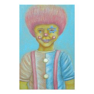 Boy Clown Custom Stationery