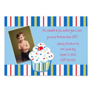 Boy Confetti Cupcake Invite