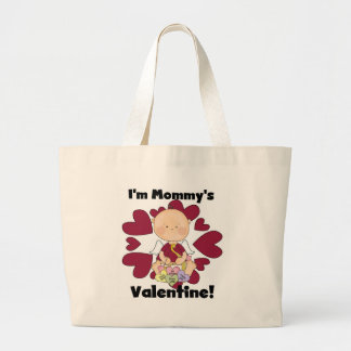 Boy Cupid Mommy's Valentine Tshirts Large Tote Bag