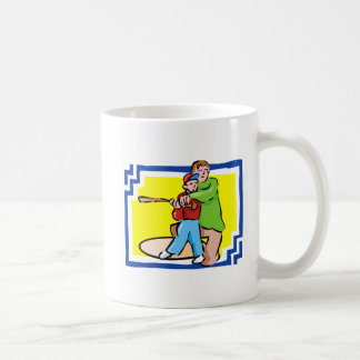 Boy & Dad Baseball Coffee Mugs