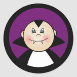 Boy Dracula Round Stickers