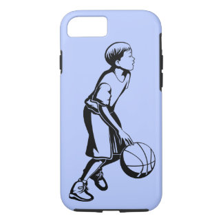 Boy Dribbling a Basketball iPhone 8/7 Case