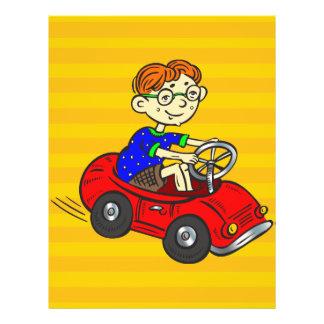 Boy Driving Toy Car Custom Flyer