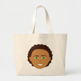Boy Face Tote Bags