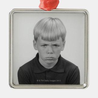 Boy Facial Expressions Christmas Ornament