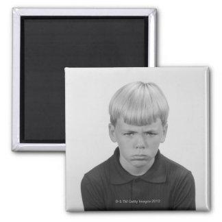 Boy Facial Expressions Refrigerator Magnet
