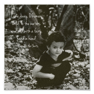 Boy Fairy William Yeats Quote Photo Print