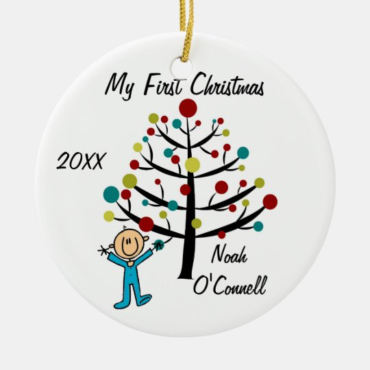 Boy First Christmas Customised Ornament