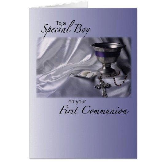 Boy, First Communion Congratulations Card