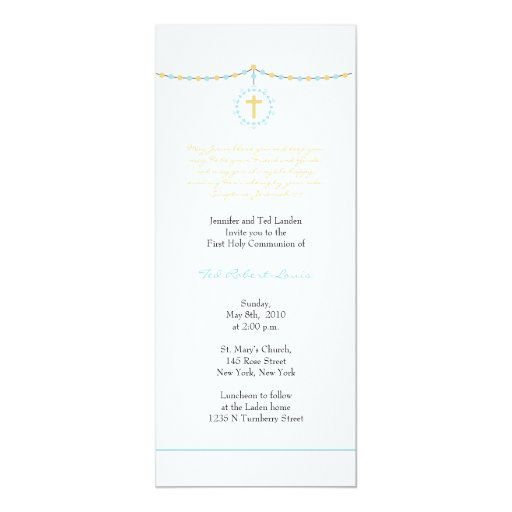 Boy First Communion Personalised Invitation