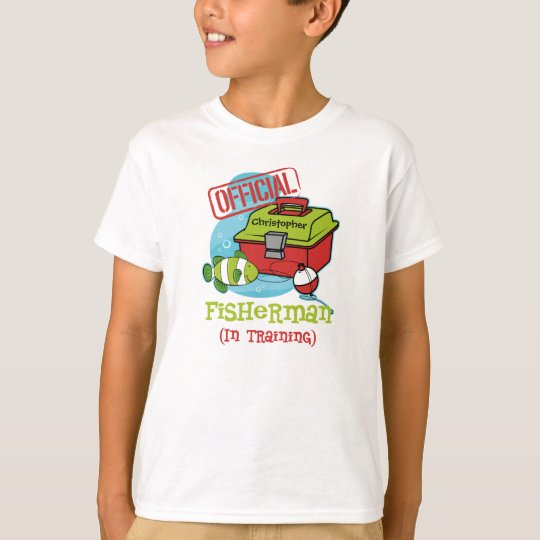 Boy Fisherman In Training T-Shirt