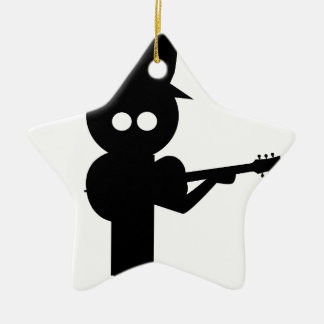 Boy Folk Singer Christmas Ornament