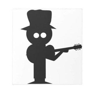 Boy Folk Singer Notepad
