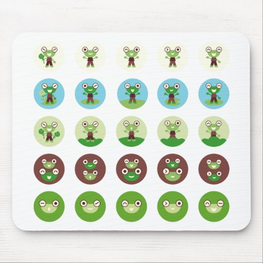 boy frog mouse pads