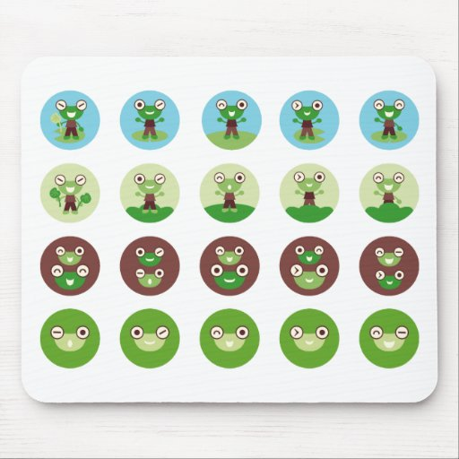 boy frog mouse pad