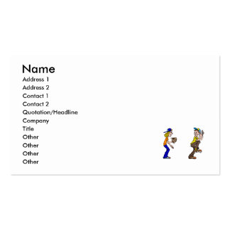 Boy & Girl Catch Pack Of Standard Business Cards