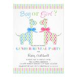 Boy Girl Giraffe Gender Reveal Party Personalized Invitations