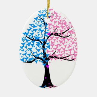 Boy Girl Hearts Tree Ceramic Oval Decoration