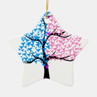 Boy Girl Hearts Tree Ceramic Star Decoration