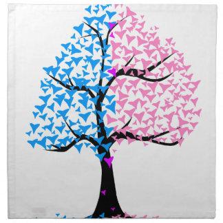 Boy Girl Hearts Tree Napkin