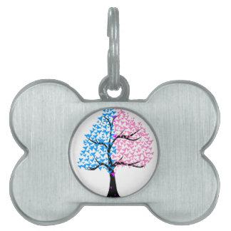 Boy Girl Hearts Tree Pet ID Tag