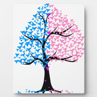 Boy Girl Hearts Tree Plaque
