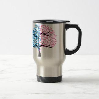 Boy Girl Hearts Tree Travel Mug
