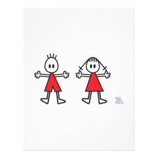 Boy & Girl in Red 21.5 Cm X 28 Cm Flyer