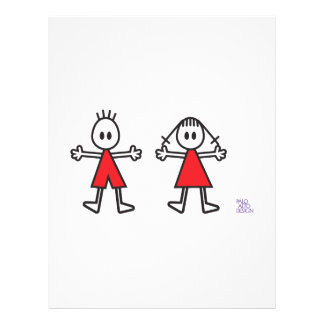 Boy & Girl in Red Personalized Flyer