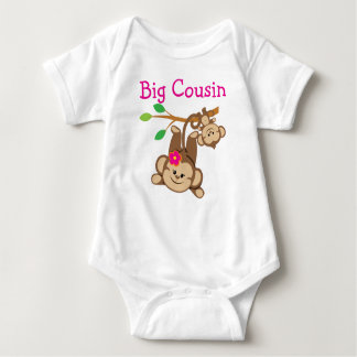 Boy, Girl Monkeys Big Cousin Baby Bodysuit