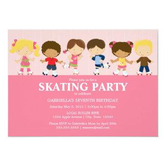 Boy/Girl Skaters | Pink Birthday Party Invite