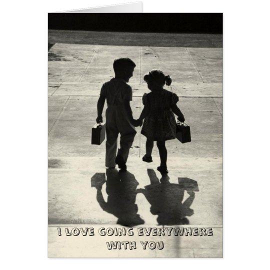 Boy & Girl True Love Greeting card holding